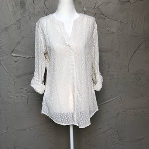 Floral Stitched Pullover Blouse